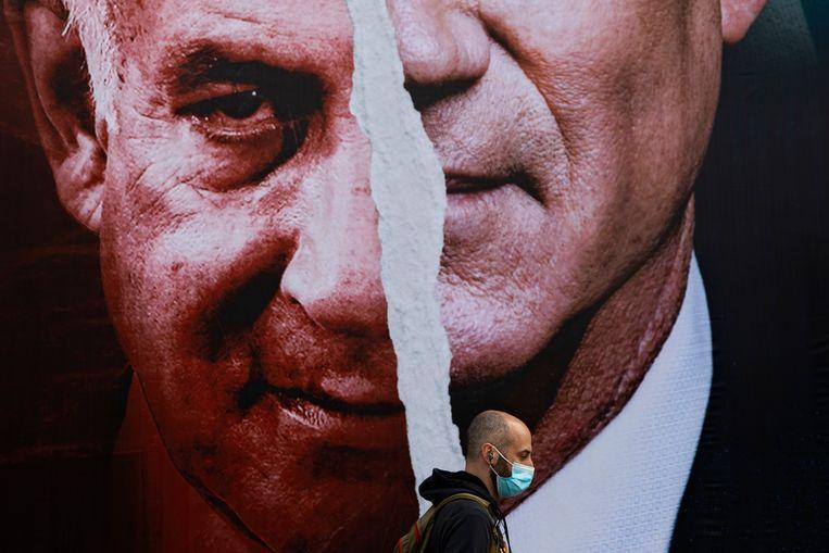 Benjamin Netanyahu hoopte als grote winnaar uit de verkiezingen te komen, maar slaagde er weer net niet in om een meerderheid te kunnen behalen. Beeld AP