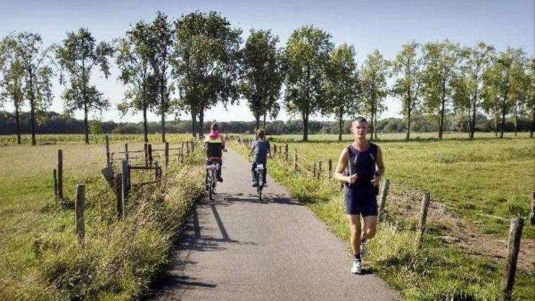 Groen rond Utrecht, zoals hier bij Haarzuilens. Het gebied is al tien jaar in ontwikkeling als groengebied ten behoeve van natuur en recreatie voor alle (nieuwe Leidsche Rijn) bewoners. (FOTO WERRY CRONE) Beeld