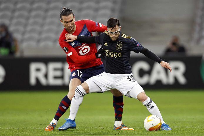 Nico Tagliafico won met Ajax met 1-2 van Lille.