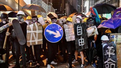 Demonstranten Hong Kong organiseren zich volgens Bruce Lee strategie