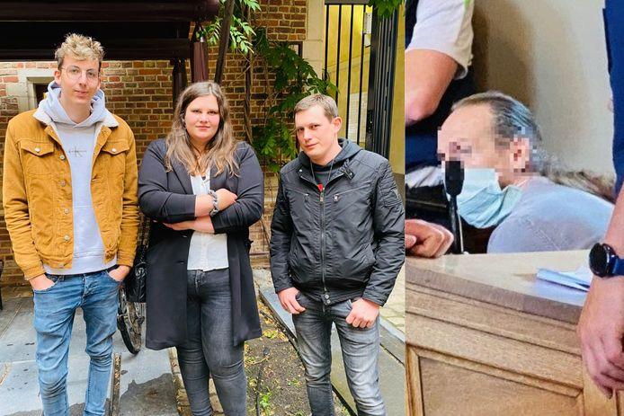 Tom, Kirsten en Gunther Luyten, de kinderen van Sonja Mertens zijn opgelucht na de veroordeling van Danny Smets.