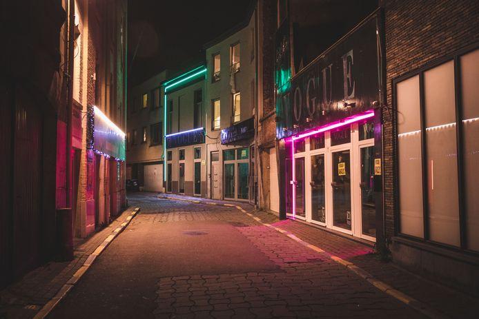 De rosse buurt in Gent.