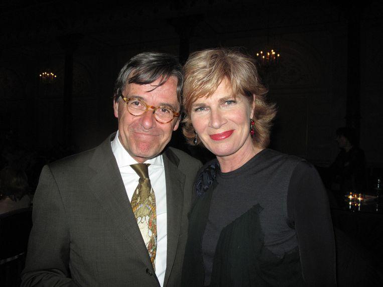 Cohen trouwde dit stel in 2004: Sijbolt Noorda en Mieke van der Weij, nu zijn het stille intimi. Beeld null