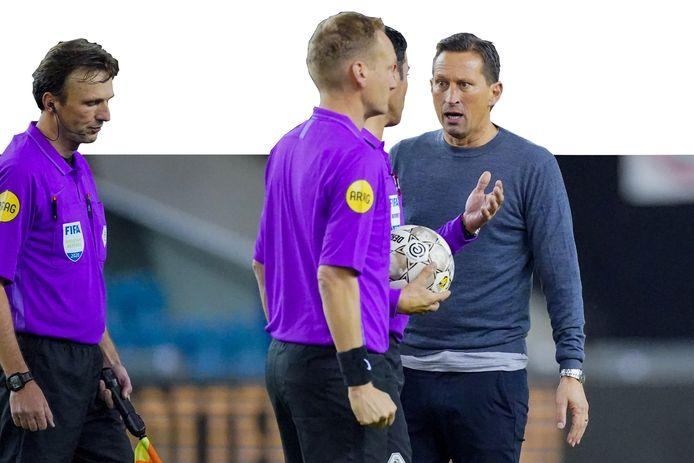 Bas Nijhuis en Roger Schmidt waren eerder dit seizoen ook al kemphanen, na het duel met Vitesse.
