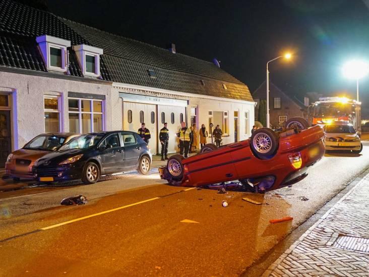 Beschonken bestuurder met auto op de  kop na ongeval in Valkenswaard