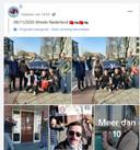 De flyeraars laten trots op Facebook zien wat ze in Almelo hebben gedaan.
