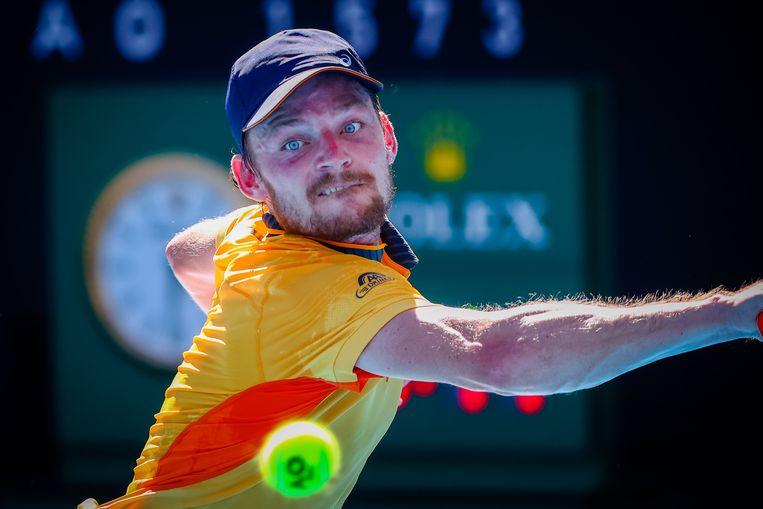 Het was een pijnlijke nederlaag voor David Goffin op de Australian Open. Hij is nog lang niet de oude. 'Dit is een harde sport.' Beeld BELGA