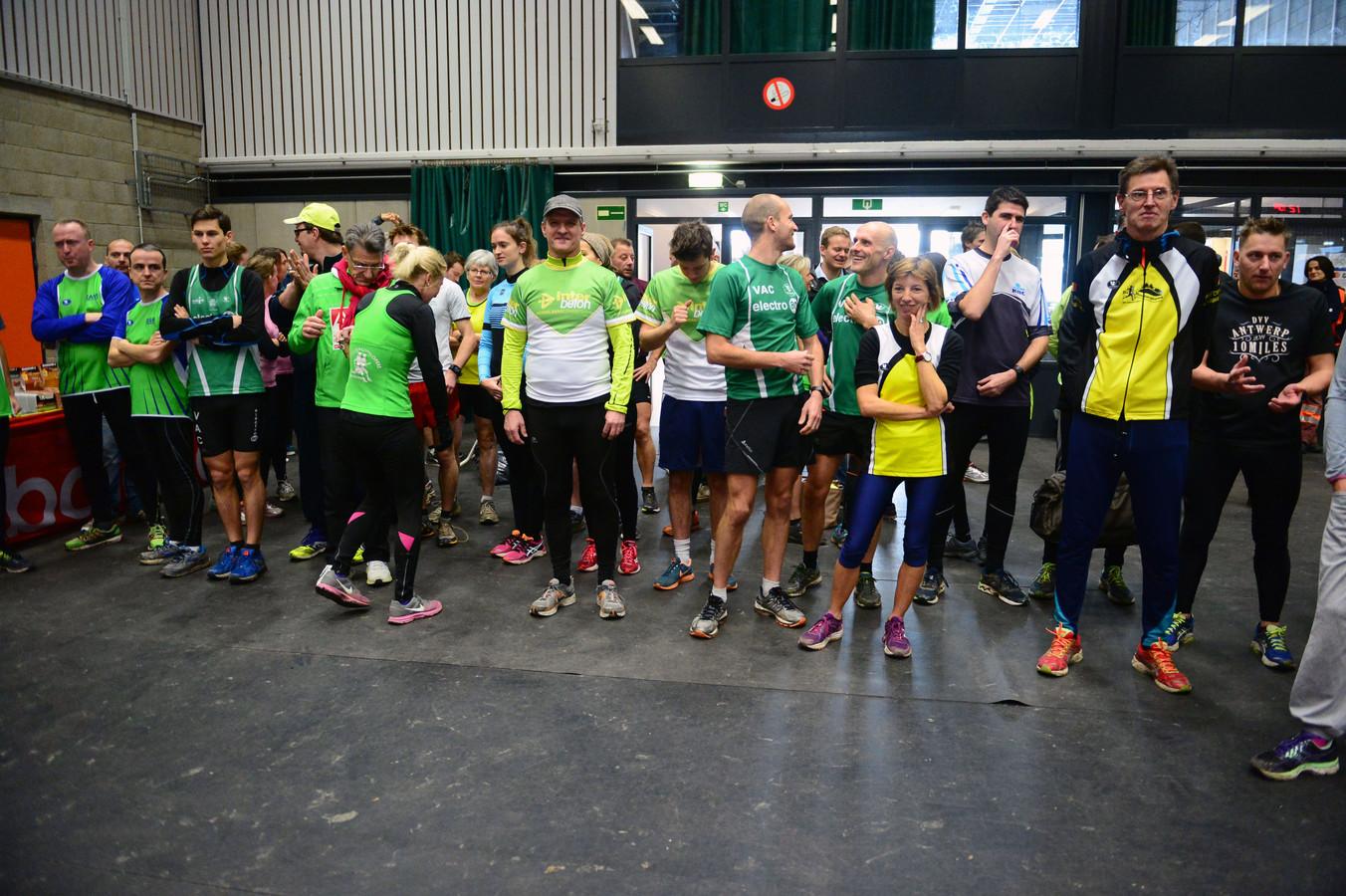 Enkele deelnemers van Eindejaarsmarathon in Kampenhout in het verleden.