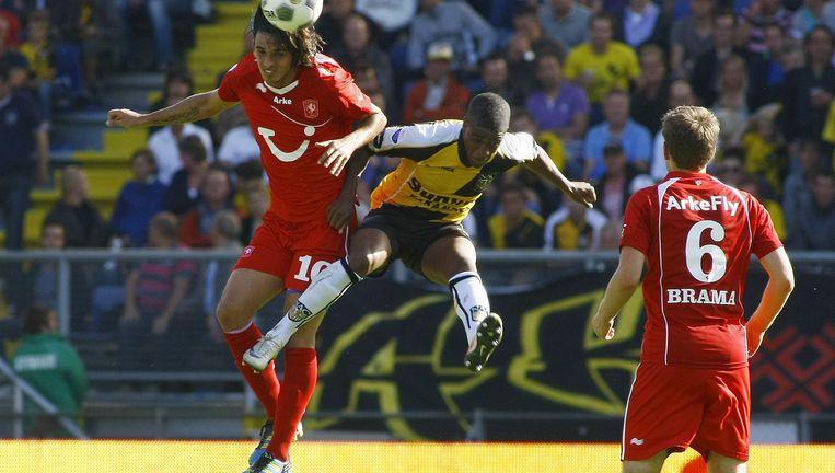 Bonevacia als speler van NAC in actie tegen Twente. Beeld anp