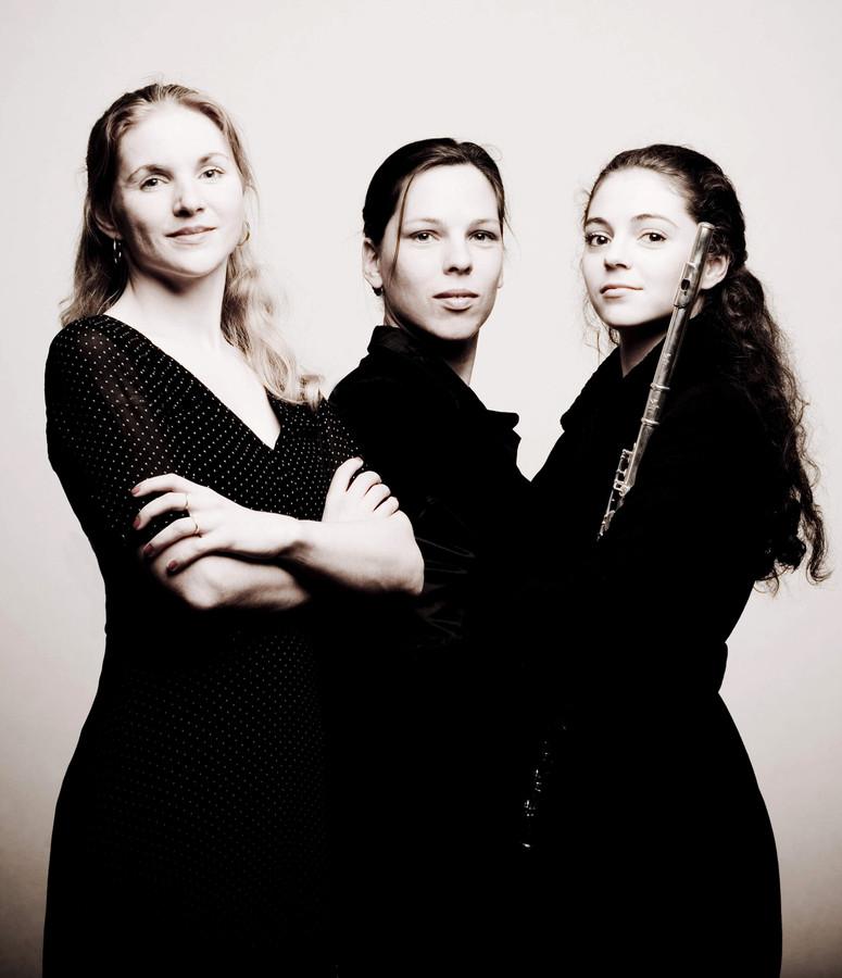 Daria van den Bercken (piano), Karin Strobos (mezoosopraan) en Felicia van den End (fluit) zouden afgelopen zondag een koffieconcert verzorgen in Reek.