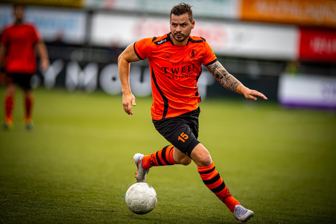 Rob Diderik in het shirt van Sparta Nijkerk, zijn laatste club.