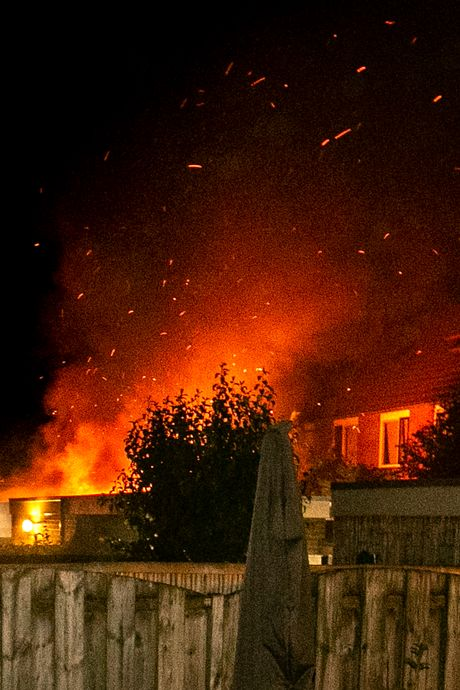 Brand beschadigt schuur in Papendrecht