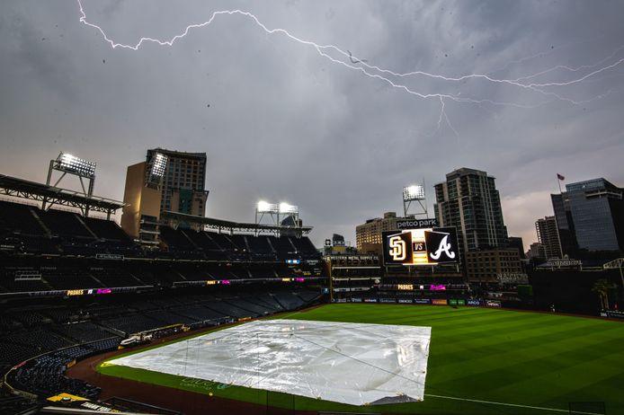 Honkbalstadion Petco Park in San Diego (California), waar de tragedie zich afspeelde.
