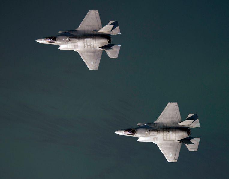 Twee F-35-toestellen. Beeld Photo News