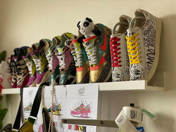 Zelfgemaakte sneakers van Studio Pandi.