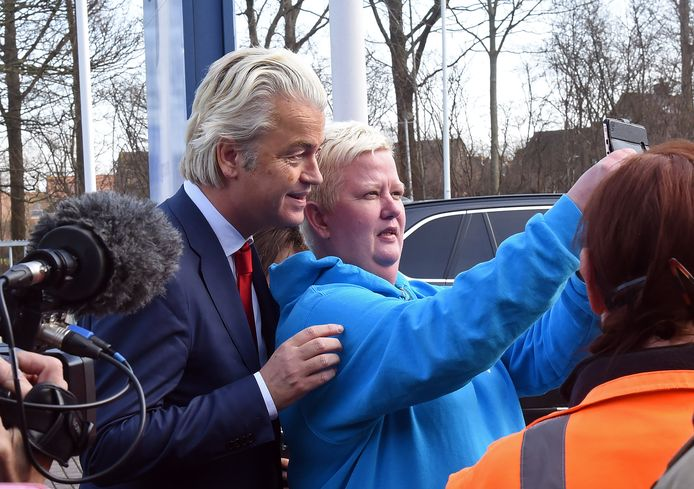Een selfie met Wilders.