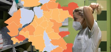 KAART | Coronabesmettingen Oost-Nederland blijven ongeveer gelijk, vier gemeenten met nul nieuwe gevallen