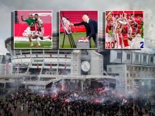 Ajax-feest in 11 foto's: van het jongetje dat de schaal uitreikt tot een eerbetoon voor Tonny Bruins Slot