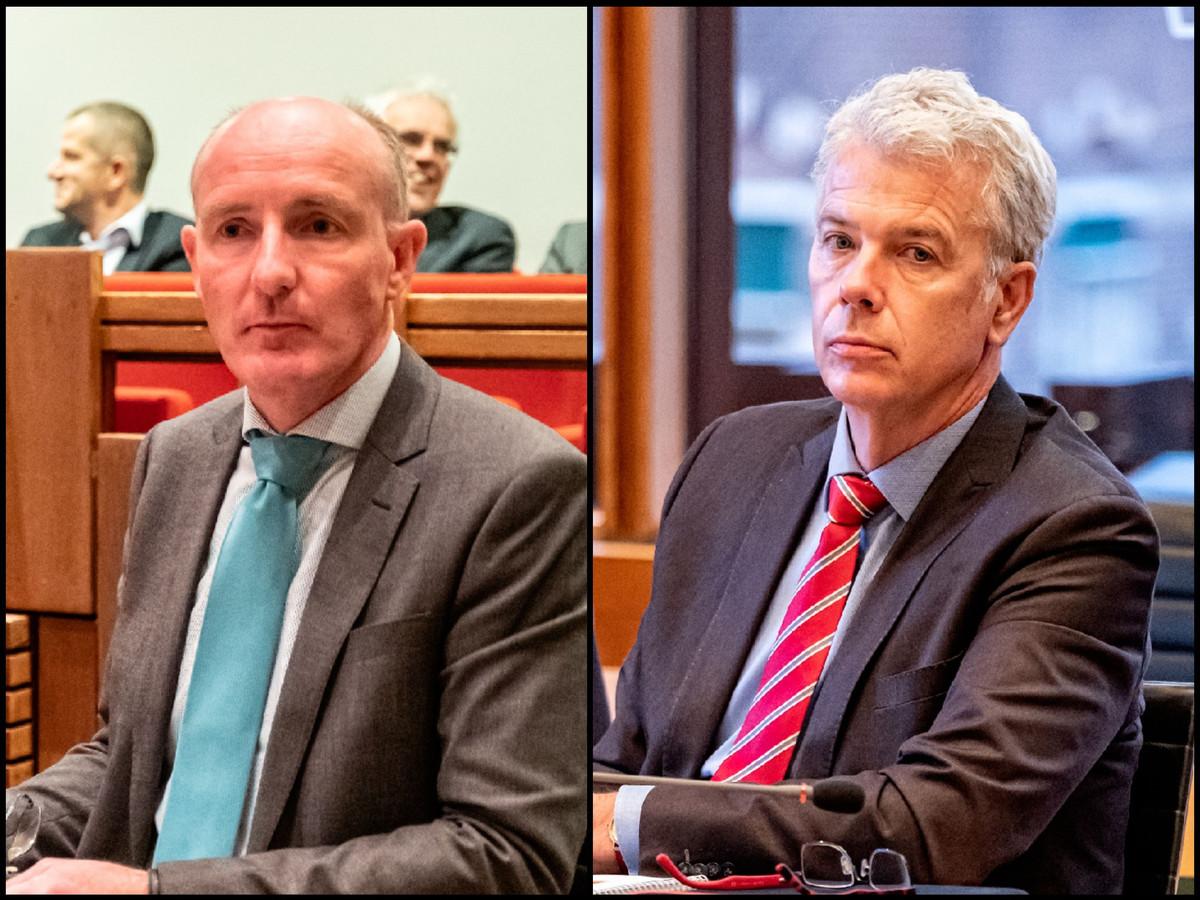 Wethouders Willem-Jan Stegeman (D66) en Hans Buijtelaar (VVD): politiek verantwoordelijk voor de kwestie-Vahstal