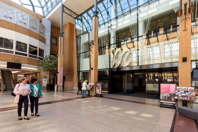 De entree van het Muziekgebouw Eindhoven in de Heuvel.