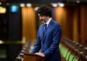 Premier Justin Trudeau hield een minuut stilte in het parlement.