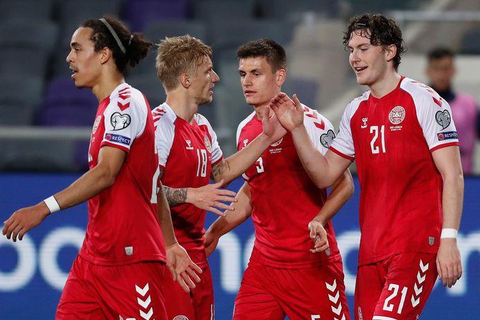 Denenmarken won afgelopen donderdag met 0-2 van Israël.