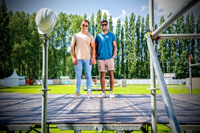 Na de teleurstelling van het Under The Bridge Festival in Spijkensse, dat terwijl alles klaarstond op het laatste moment door nieuwe coronamaatregelen niet doorging, organiseren Juri Diaz en Ryan Lalay (rechts) een Winter Festival.