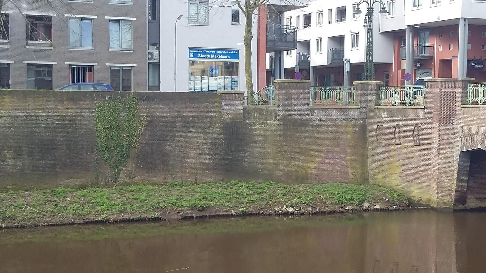 De stadsmuur aan de Noordwal in Den Bosch.