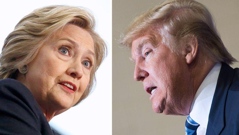 Hillary Clinton en Donald Trump. Beeld AFP