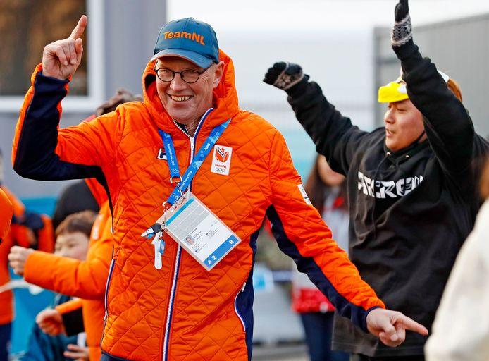 Geert Kuiper in 2018 op de Winterspelen in Pyeongchang, toen nog in Nederlandse dienst.