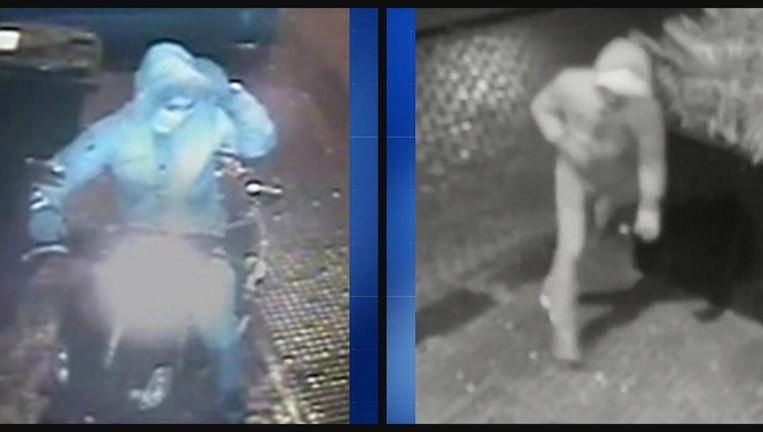 De twee verdachten van het neerleggen van de granaten Beeld Politie