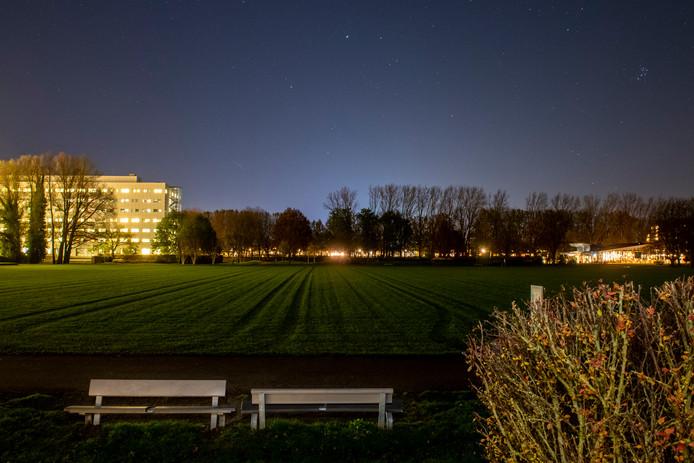 Het park in Zwolle.