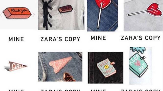 """Kunstenares beschuldigt Zara van plagiaat: """"Dit zijn mijn ontwerpen!"""""""