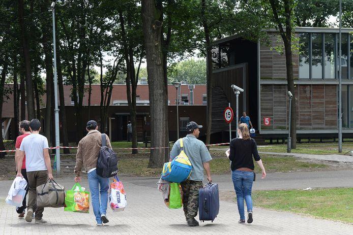 In 2014 kwamen de eerste asielzoekers aan op het azc in Overloon.