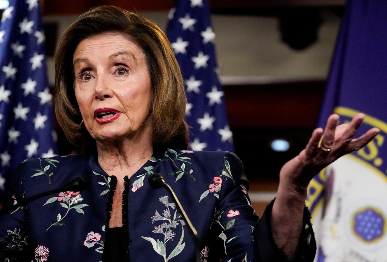 Nancy Pelosi, de Democratische voorzitter van het Amerikaanse Huis van Afgevaardigden.