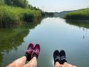 'We lopen bij de Utrechtse Heuvelrug, een prachtig stukje natuur'