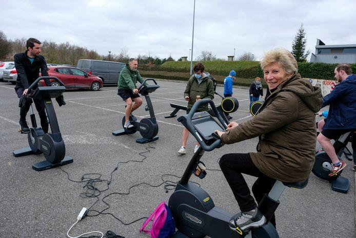 In Vilvoorde stonden negen fitnesstoestellen buiten.