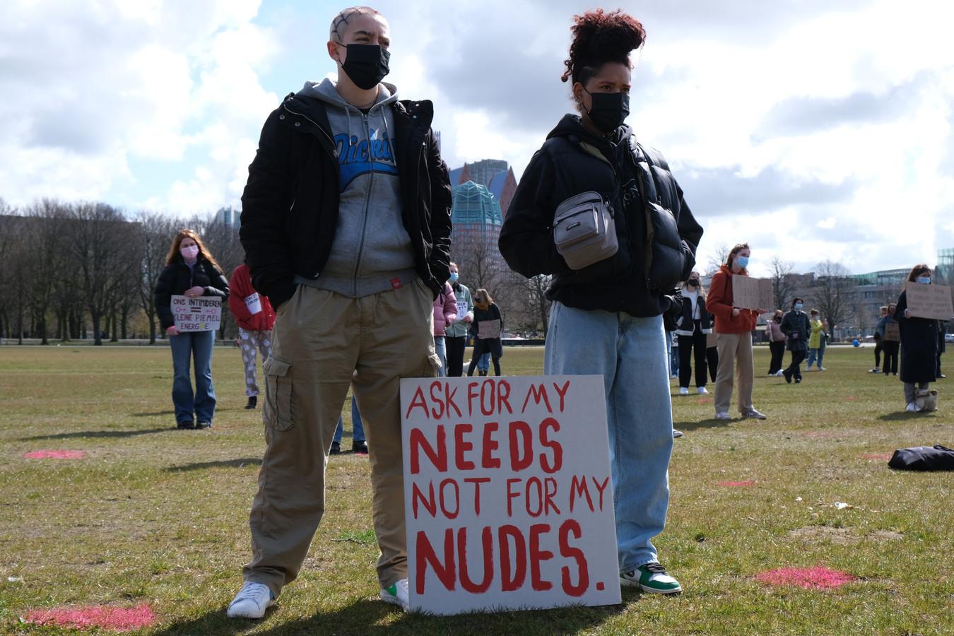Demonstratie op het Malieveld tegen intimidatie en geweld.