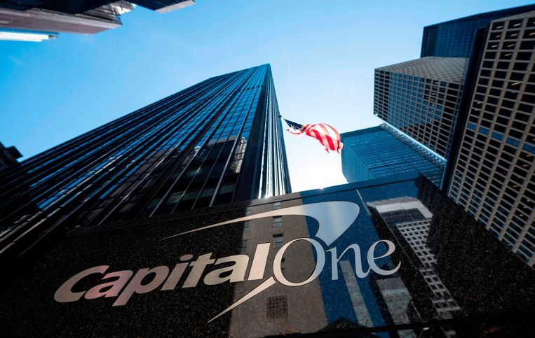 Het hoofdkantoor van Capital One in New York, VS.
