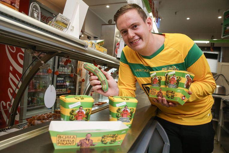 Zelf Bomaworsten verkopen in zijn frituur? Het was een droom van Vincent.