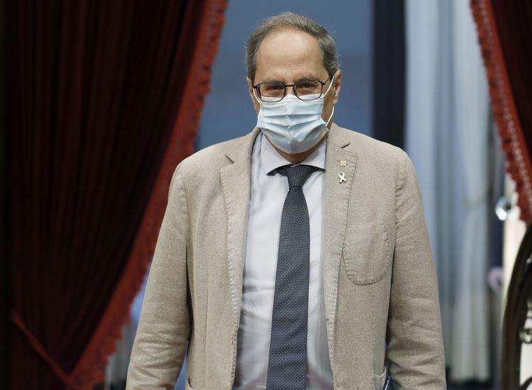 De Catalaanse premier Quim Torra Beeld EPA