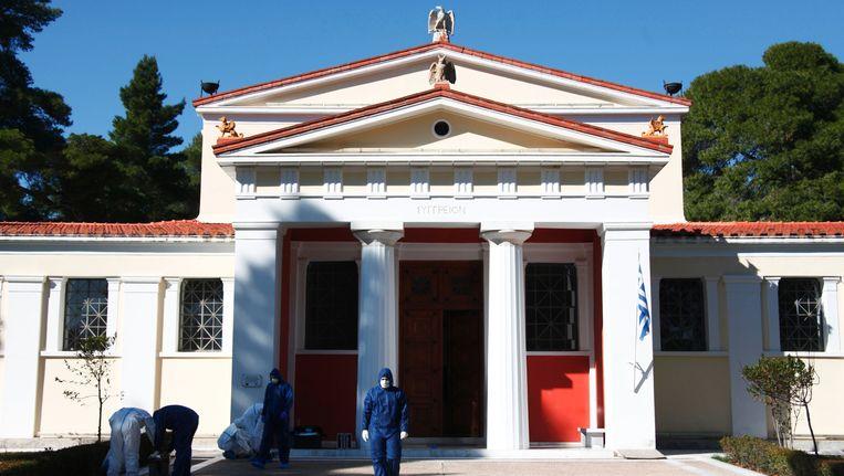 Museum van de Geschiedenis van de Olympische Spelen in de Oudheid in Olympia. Beeld AFP