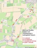 Overzicht met de (beoogde) extra huizen. De plannen verkeren in verschillende stadia en zijn nog niet allemaal vergund.