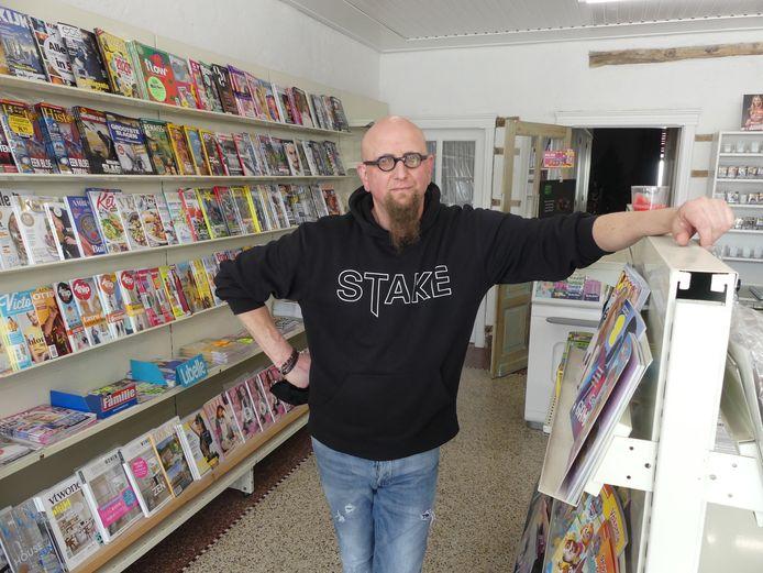 Nico Follens in 't Gazettewinkelke.