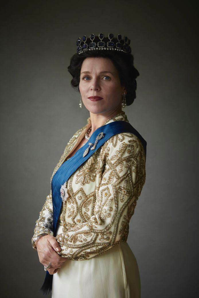 Wendell Jaspers als de Britse koningin Elizabeth.