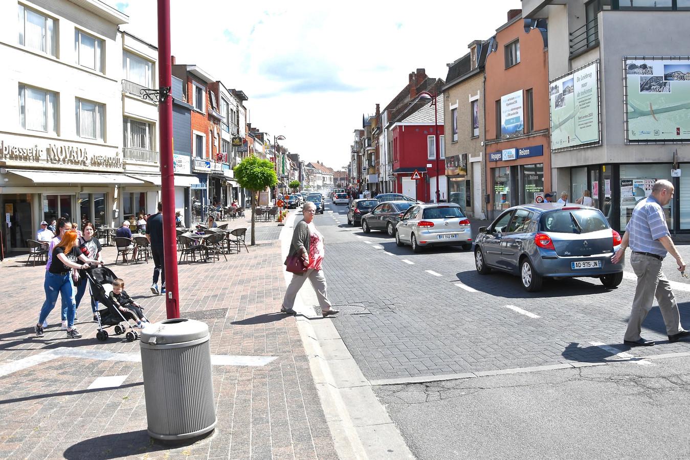 De Rijselstraat in Menen.