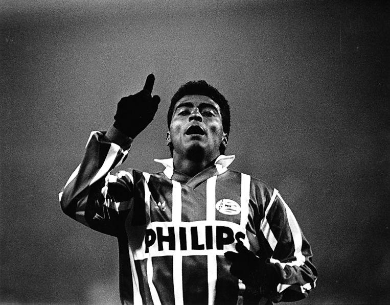 Sterspeler Romario de Souza Faria, PSV¿er tussen 1988 en 1993. Maakte 165 goals voor de Eindhovenaren, voor hij vertrok naar Barcelona vertrok. Beeld Heus, Hans