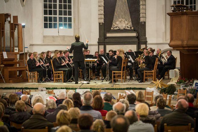 Een vorige editie van het jaarlijkse kerstconcert in de Grote Kerk.