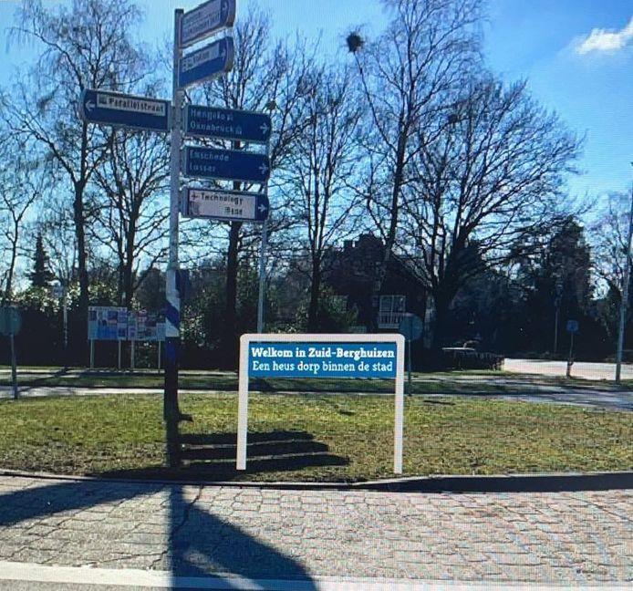 Berghuizen: een 'heus dorp' in de stad Oldenzaal. Dat vindt de Stichting Kansrijk Berghuizen niet alleen, dat laat zij straks iedereen ook weten met toegangsborden.
