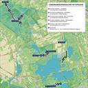 De op de fietspaden in De Weerribben en De Wieden getroffen maatregelen.